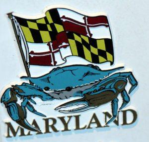 cangrejo Maryland bandera