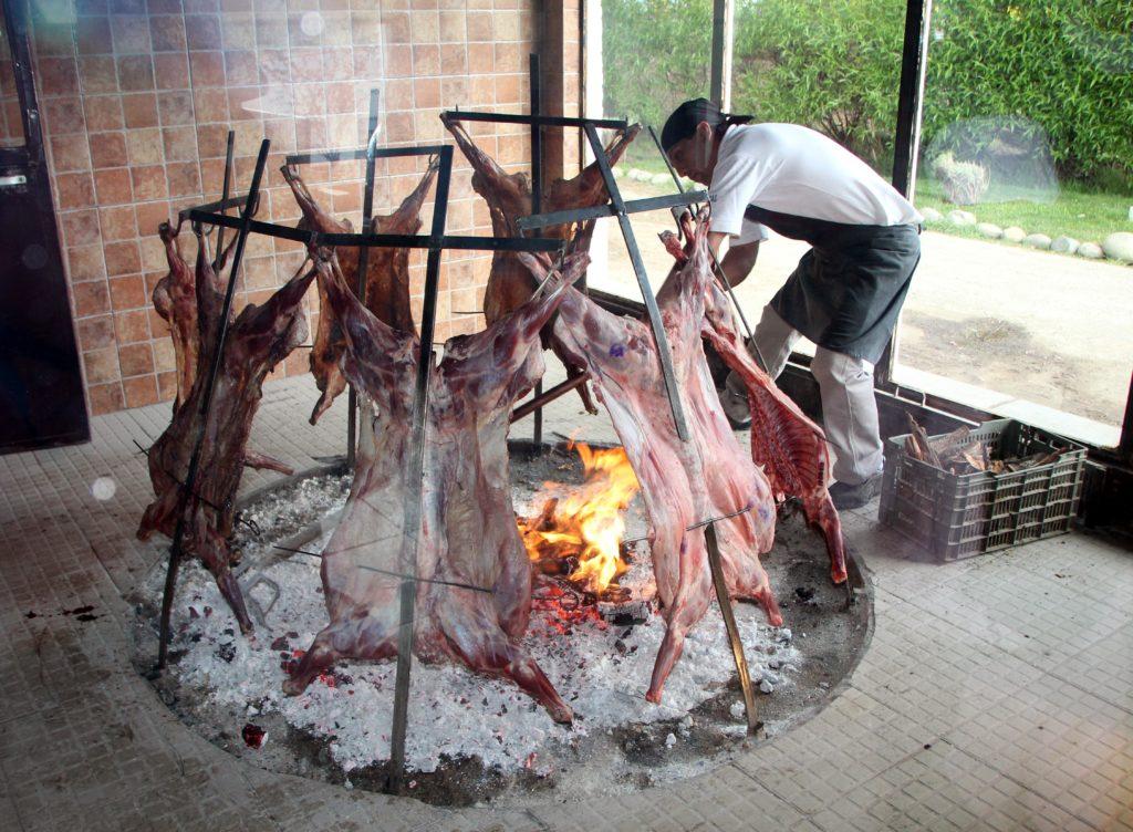 Cordero patagonico Restaurante La Tablita