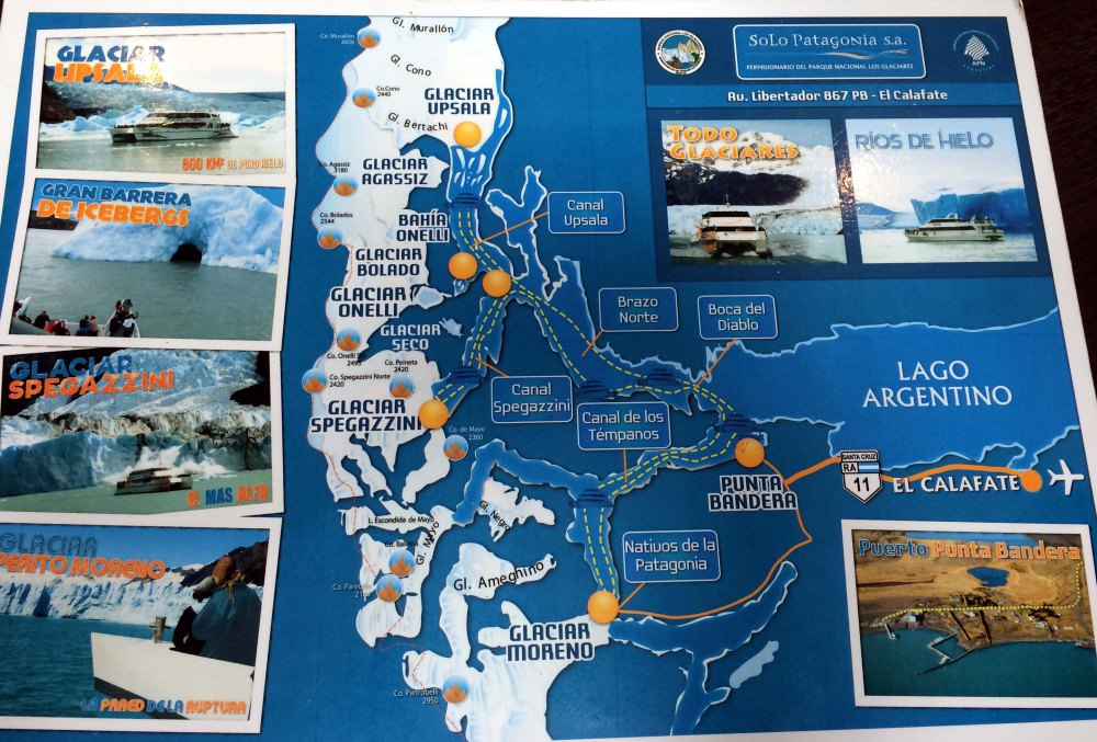 mapa glaciares solo patagonia