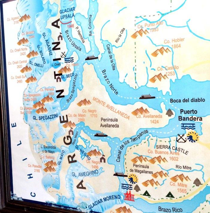 Mapa Glaciares