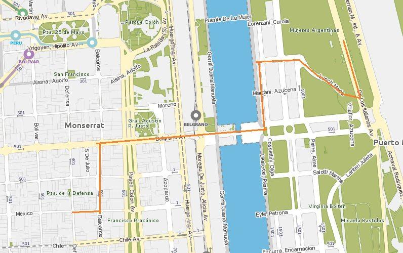 Mapa Paseo de la Historieta