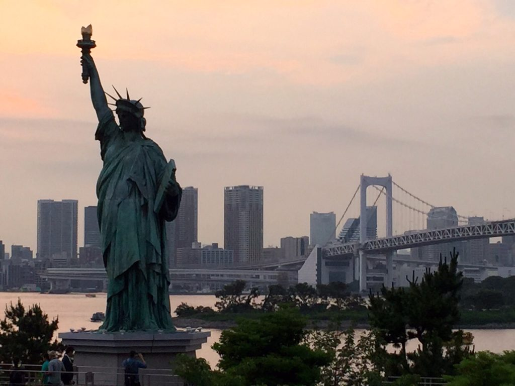 Odaiba, estauta libertad Tokio
