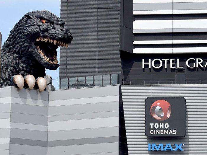 cabeza Godzilla, Hotel Gracery Shinjuku, Tokio