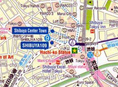 detalle mapa Shibuya
