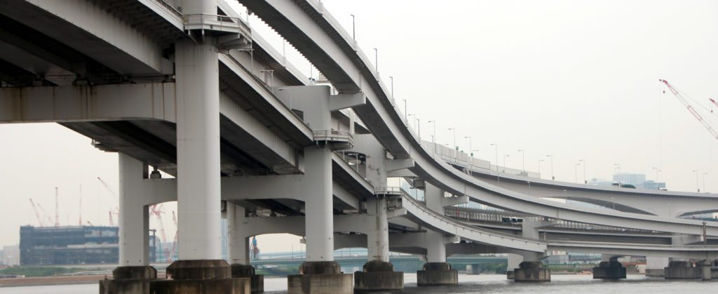 detalle Puente Rainbow, Odaiba