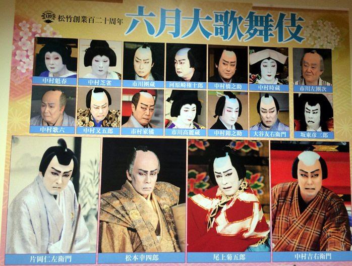 elenco actores Teatro Kabukiza, Tokio
