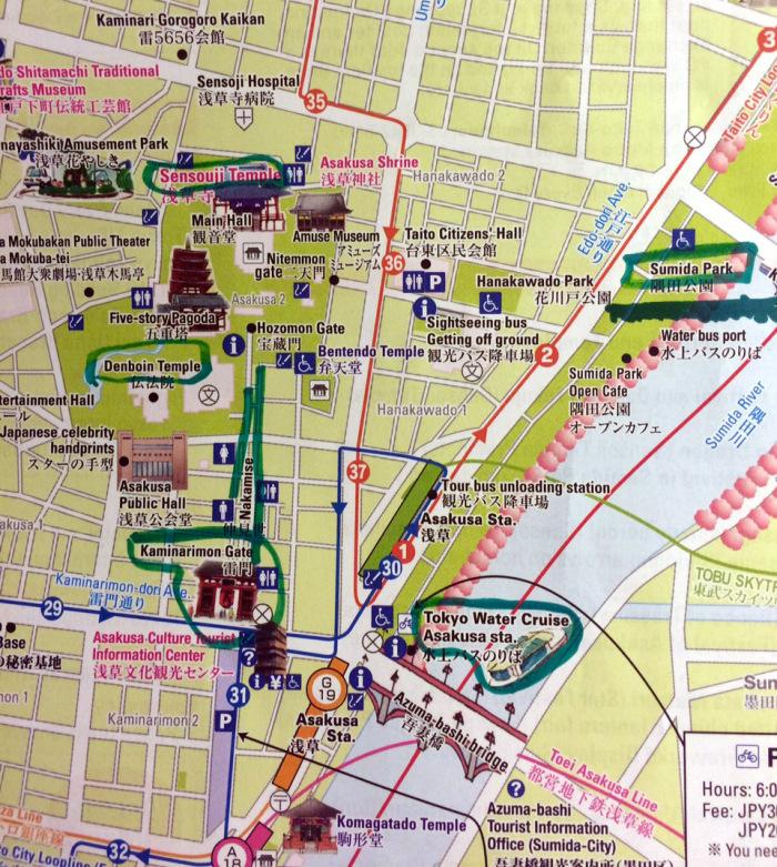 mapa Asakusa, Tokio