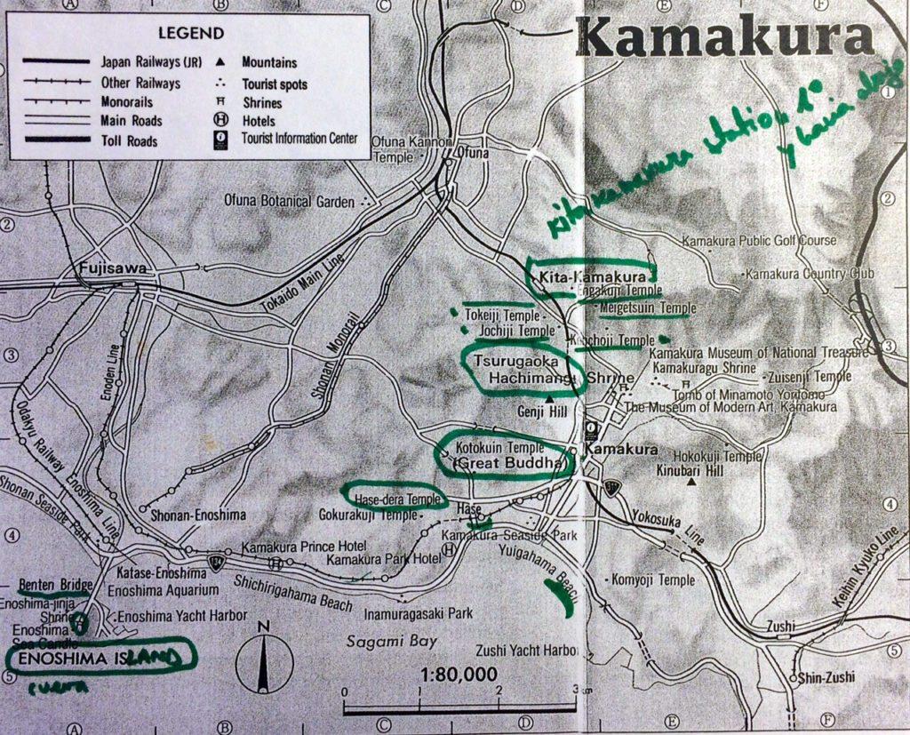 mapa templos kita-kamakura