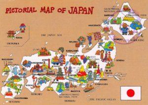 mapa turistico japon dibujos