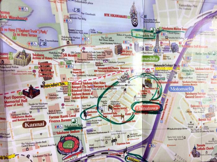 mapa Yokohama barrio chino