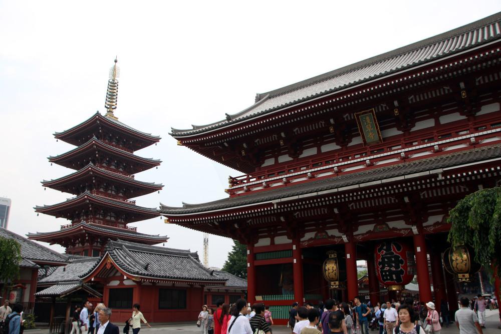 pagoda Templo Sensoji, Asakusa, Tokio