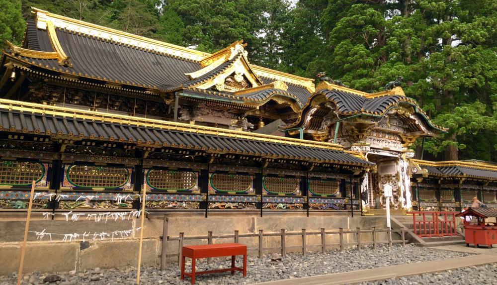 panoramica puerta entrada Toshogu Shrine, Nikko