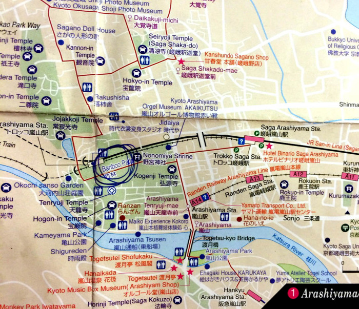 Arashiyama mapa