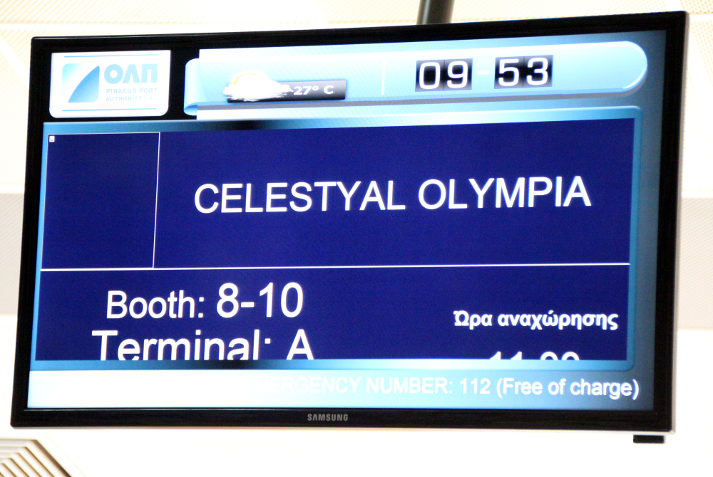 check in Celestyal Olympia