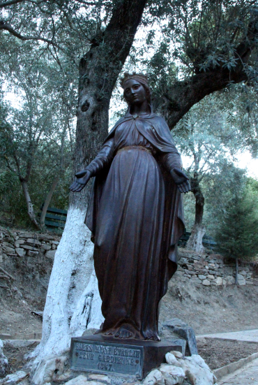 imagen estatua, casa Virgen, Efeso