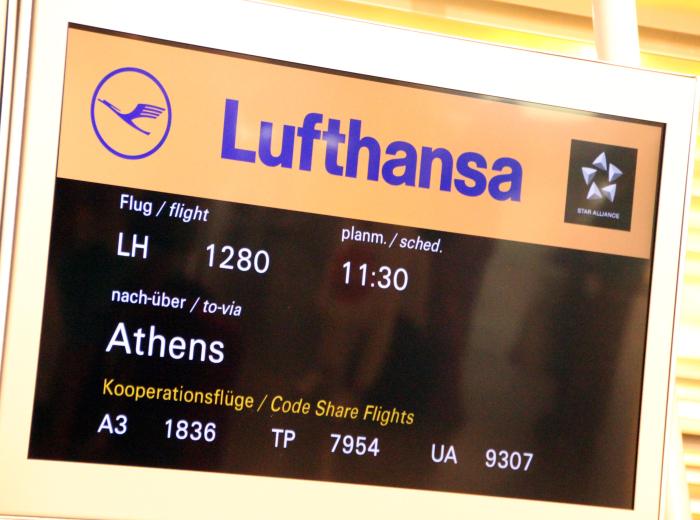 información vuelo Atenas