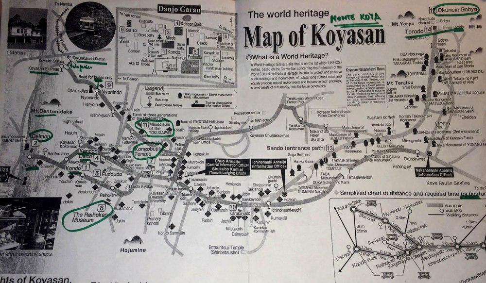 mapa completo, Koyasan