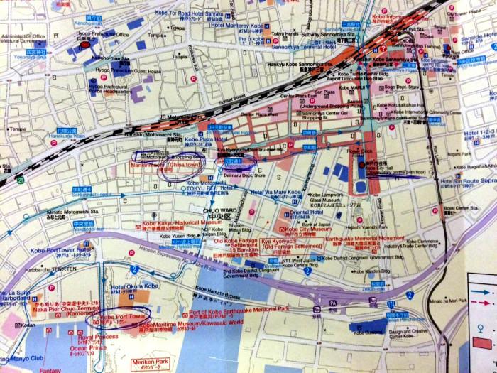 mapa Kobe
