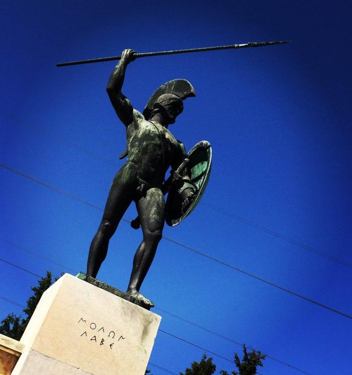 Monumento Termopilas, Leonidas