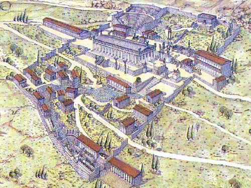 reconstrucción Santuario Delfos