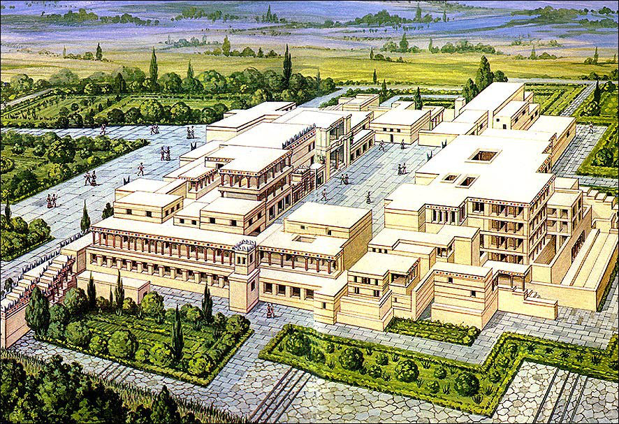 Reconstruccion Palacio de Cnossos