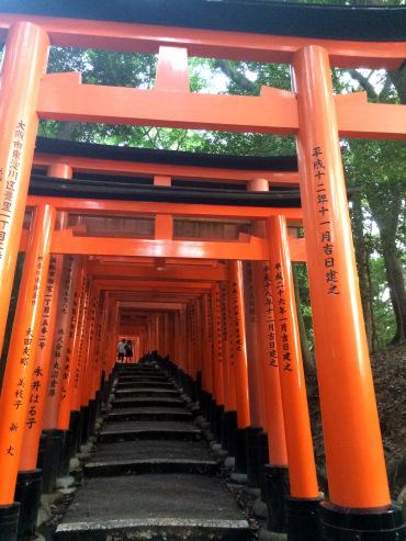 Templo Fushimi Nari, toris rojos