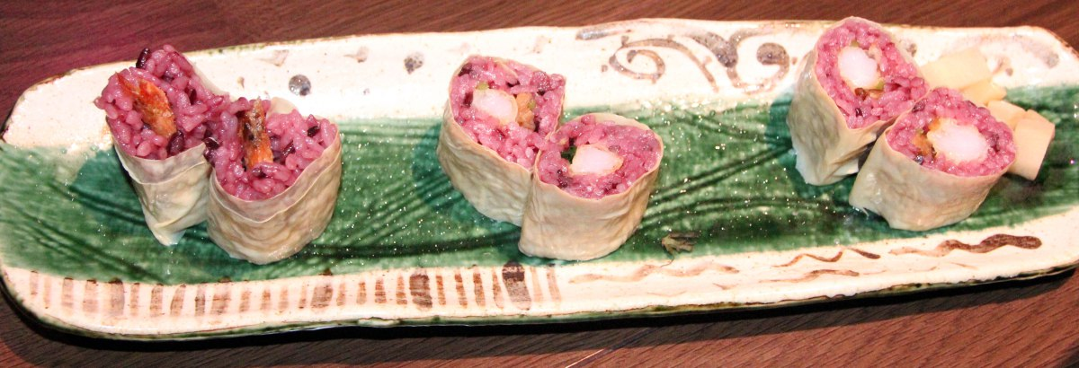 Restaurante Ninja, Kioto, plato de makis
