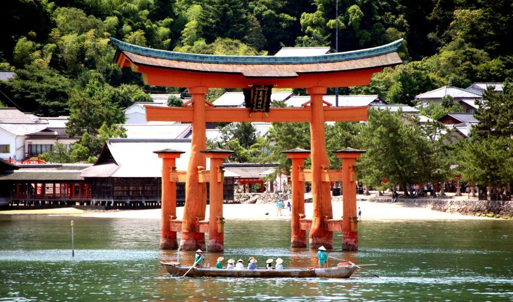 Torii Miyajima, entrada santuario Itsukushima