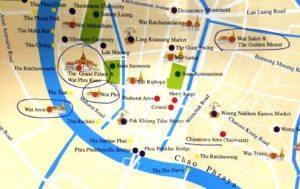 oeste Bangkok canal - mapa