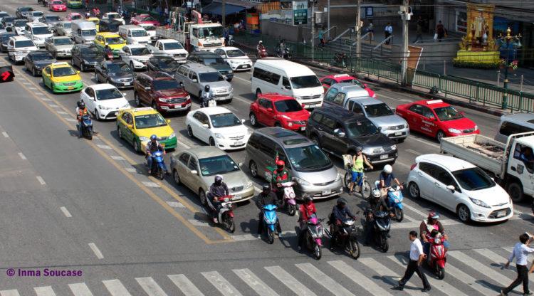 calles trafico Bangkok