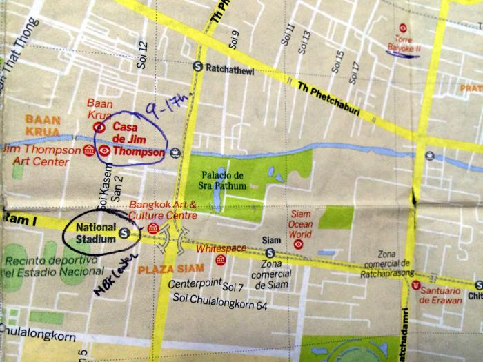 mapa este Bangkok