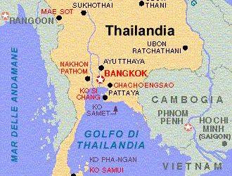 mappa ciudades Ayuttaya