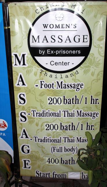masaje thai ex prisioneras - precios