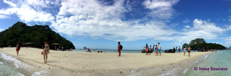 playa entre Poda island y Tub island