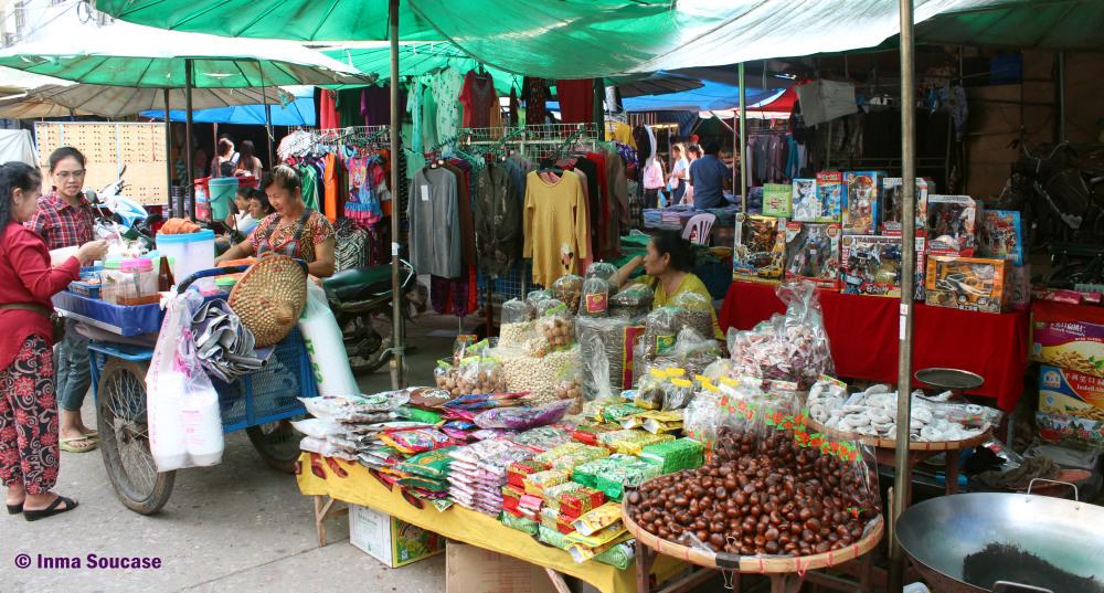 República de la Unión de Myanmar (antigua Birmania) - mercado
