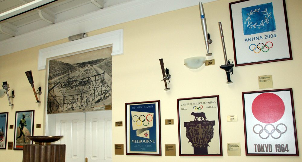 antorchas y pebetero, museo estadio panatinaico, Atenas