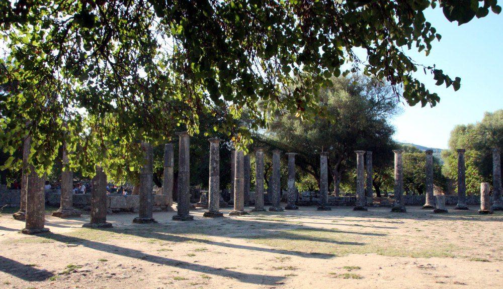 gimnasio, restos Olympia