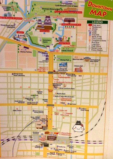 mapa Himeiji ciudad