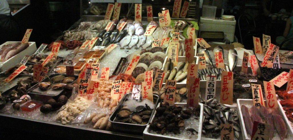 Nishiki food market, Kioto