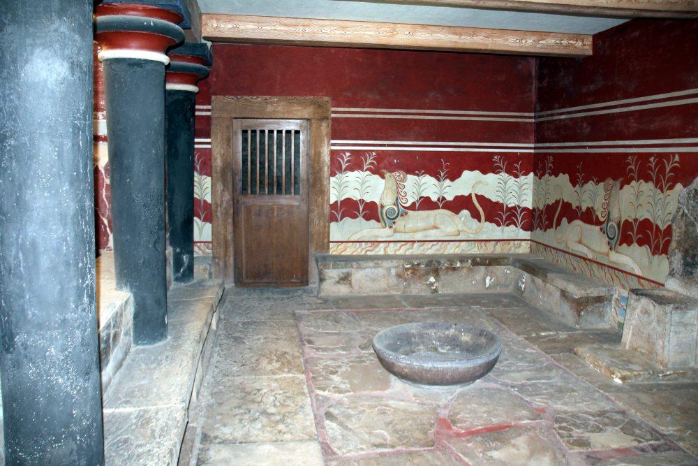 salon del trono, Palacio de Cnossos
