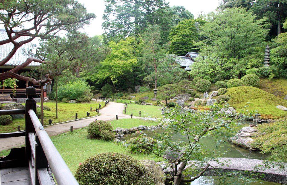 Templo Shoren-in, jardines