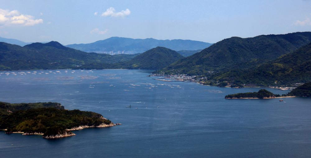 vistas, monte misen, Miyajima