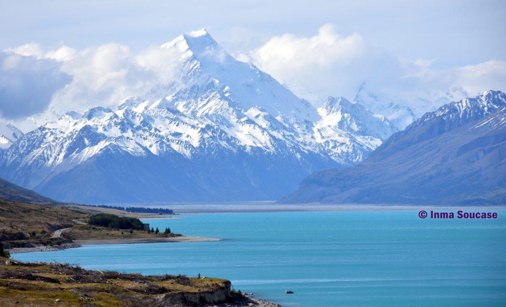 Monte Cook y lago Pukaki