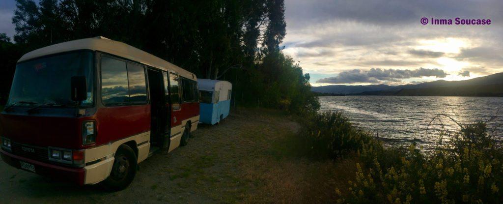 acampar autocaravana Nueva Zelanda