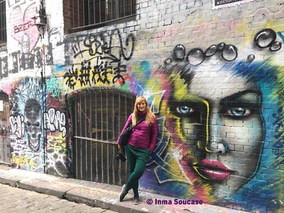 inma soucase calle Hosier Lane Melbourne
