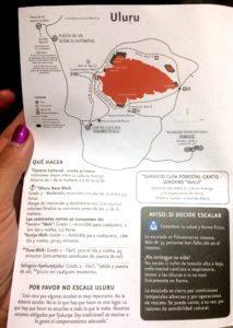 mapa información Uluru rutas