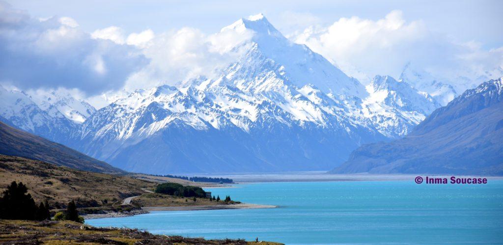 panoramica monte Cook y lago pukaki