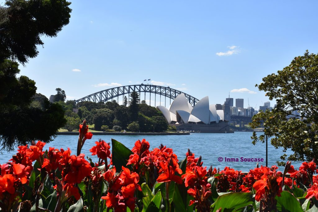 sydney opera house from botanic garden