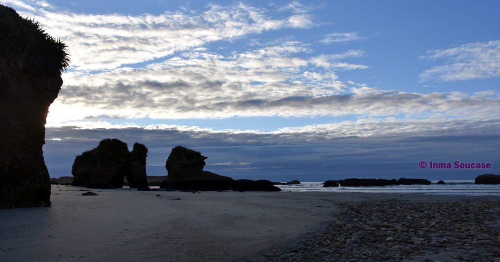 Fox River Beach atardecer Nueva Zelanda