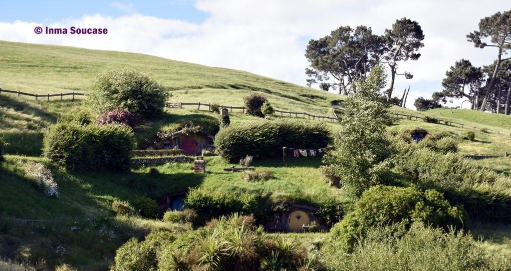 Hobbiton movie set agujeros hobbits